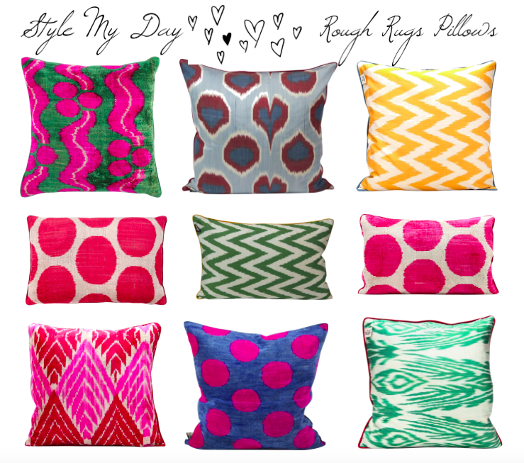 Style My Day Loves Rough Rugs Pillows