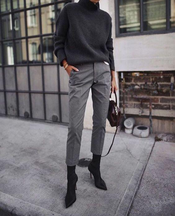 De meest chique looks met een grijze pantalon!