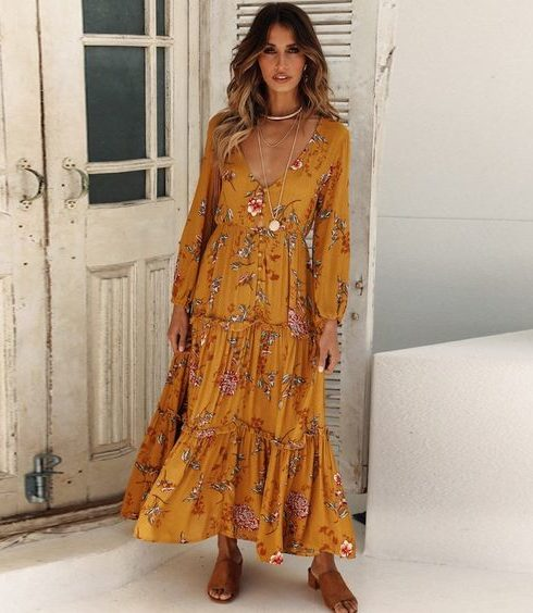 De mooiste maxi jurken onder de €80,-