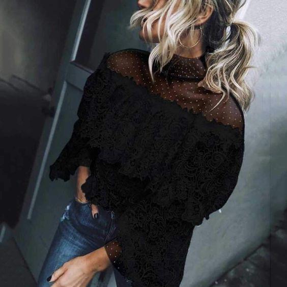 10 X De mooiste zwarte kanten blouses