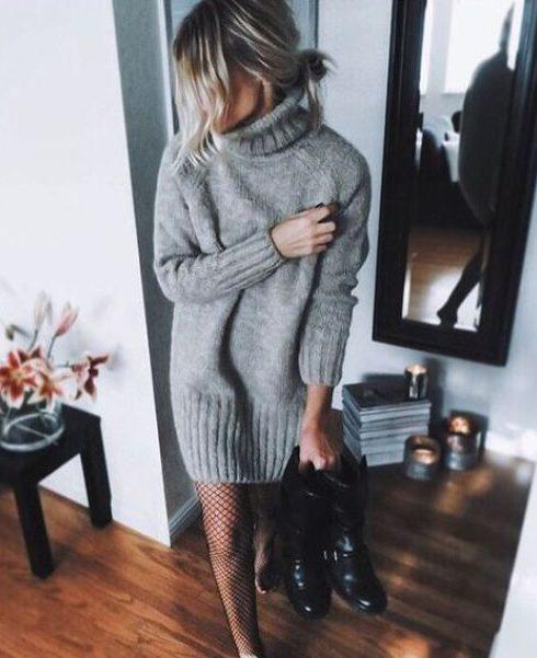 Déze super lekker warme jurk is perfect voor de winter