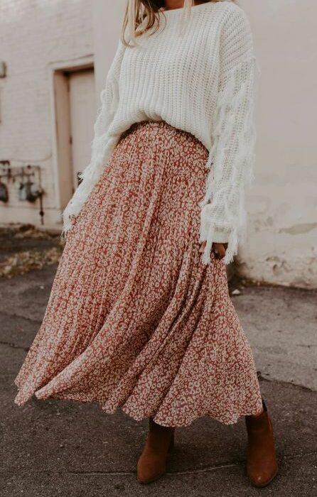 De leukste maxi rokken om te dragen deze winter!