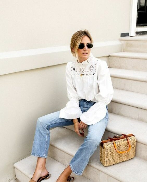 De leukste witte embroidered blouses voor deze zomer!