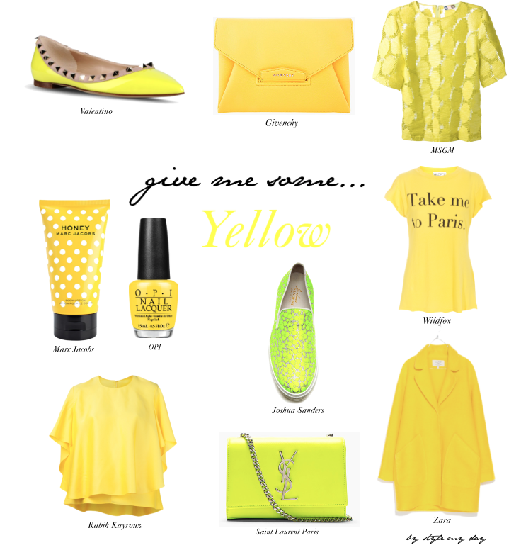 Give me some yellow…